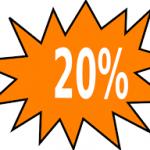 1. + 2. pinsedag 20% på alt i webshoppen.