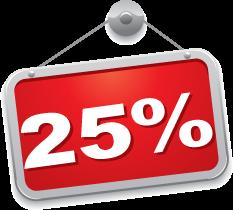 Spar 25 %